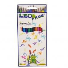 Lápis De Cor De Resina Leofrog Cx C/12