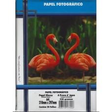 Papel Glossy Tamanho A4 Cx Com 20 Folhas 230 Grs