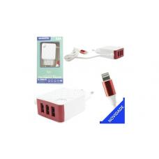 CARREGADOR LIGHTNING 5.8A 3 USB