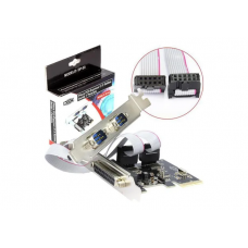 PLACA 2 SERIAL + 1 PARALELO PCI-E