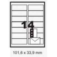 Etiqueta Branca 101,6 X 33,9 Mm C/ 25 Fls