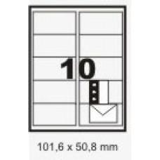 Etiqueta Branca 101,6 X 50,8 Mm C/ 100 Fls