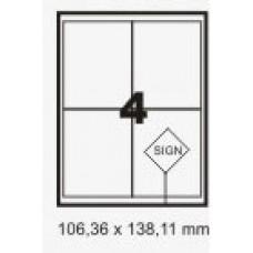 Etiqueta Branca 138,11 X 106,36 C/ 100 Fls – Print Label