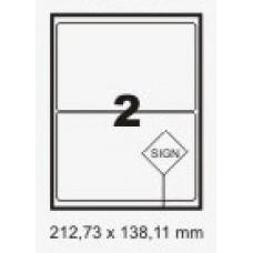 Etiqueta Branca 138,11 X 212,73 Mm C/ 100 Fls – Print Label
