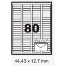 Etiqueta Branca 44,45 X 12,7 Mm C/ 100 Fls