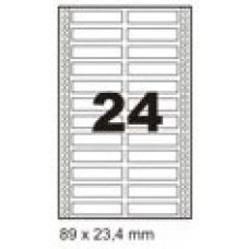 Etiqueta Branca 89 X 23,4 Mm – 2 Carreiras
